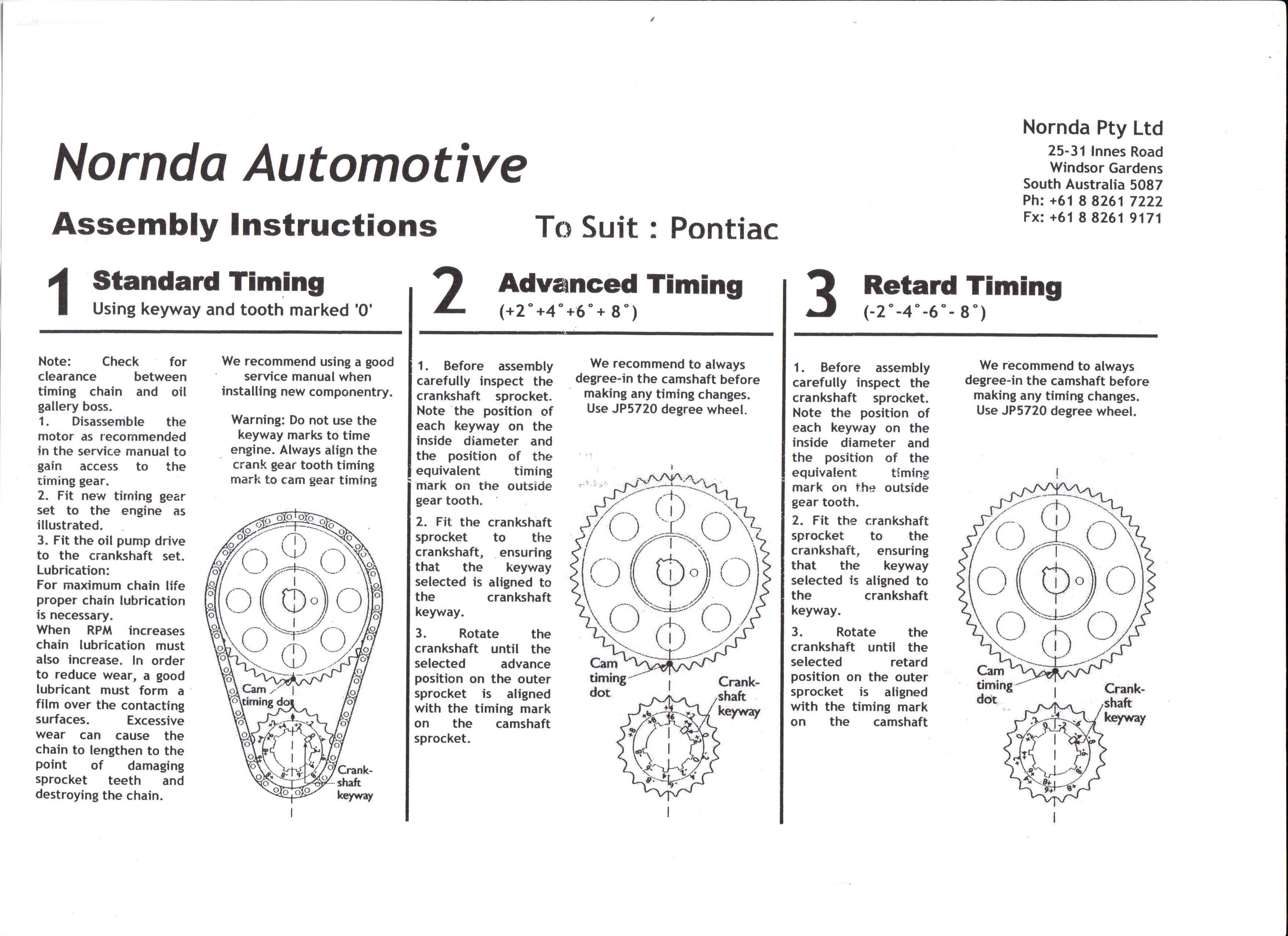 ... JPP and Rollmaster Timing Set Instructions ...