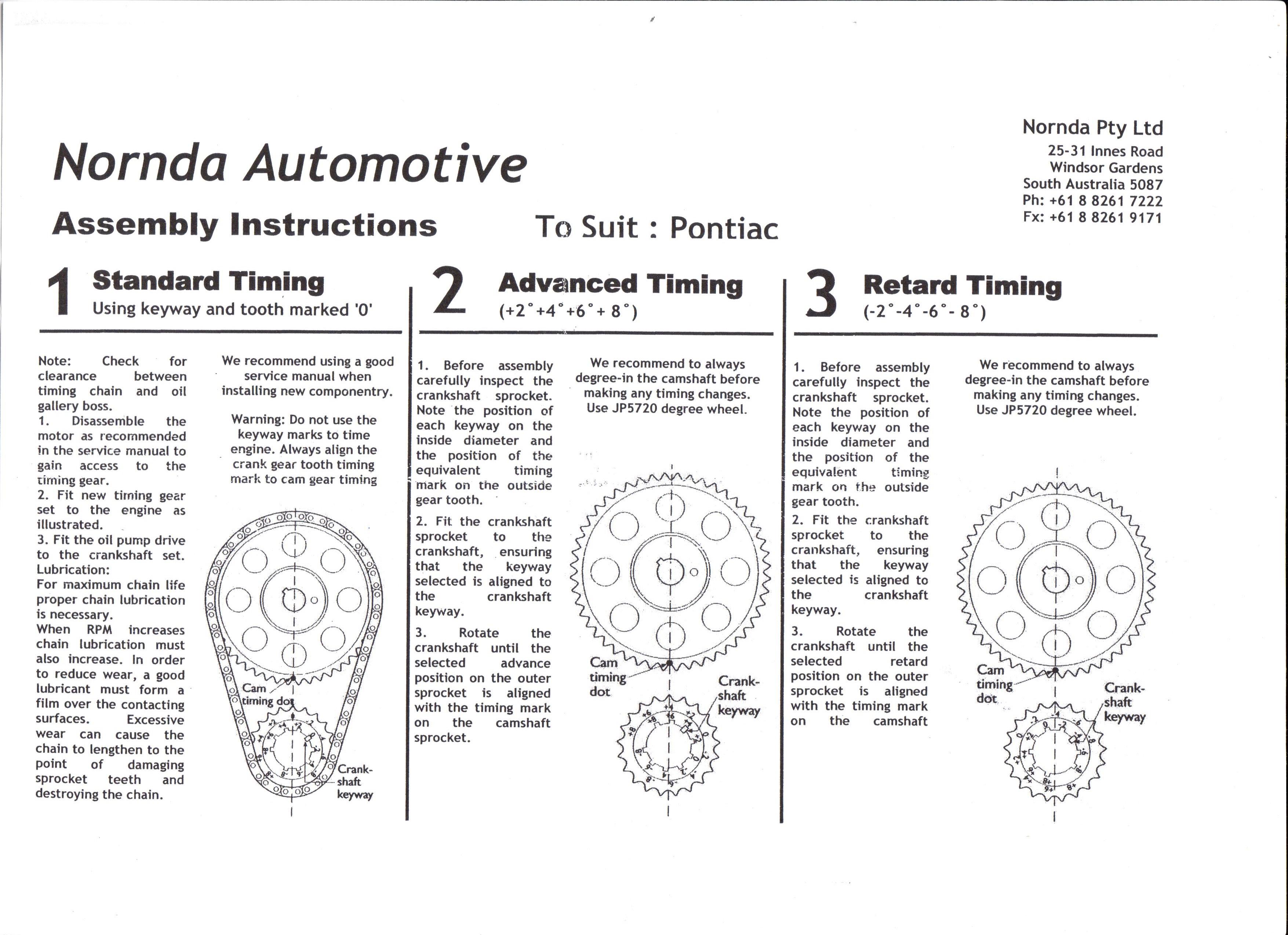 Instruction Sheets Pontiac 400 Intake Manifold Diagram Rollmaster Sheet