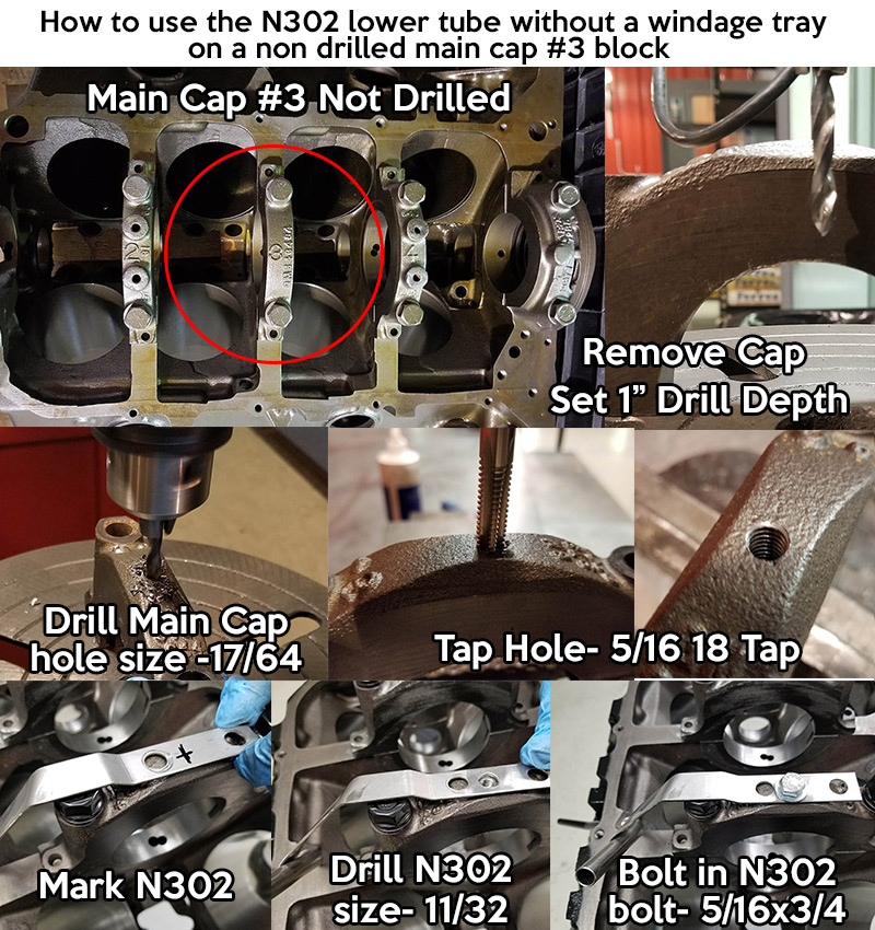 Lower Dip Stick Tube Installation with Main Cap Identification