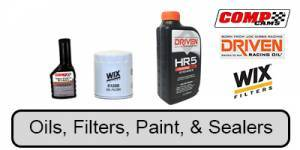 Oils, Filters, Paint, & Sealers