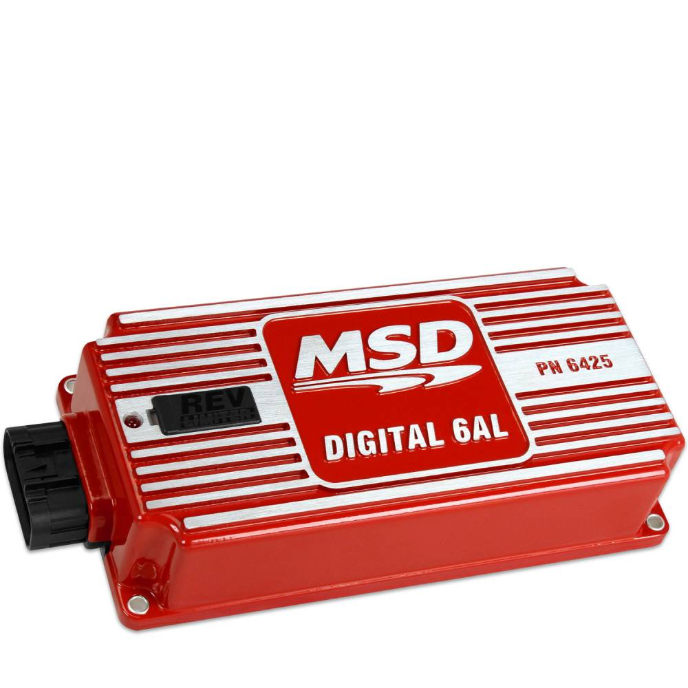 Msd 6al Digital Ignition Box W Transmission Wiring Diagram Performance Built In Rev Limiter Red