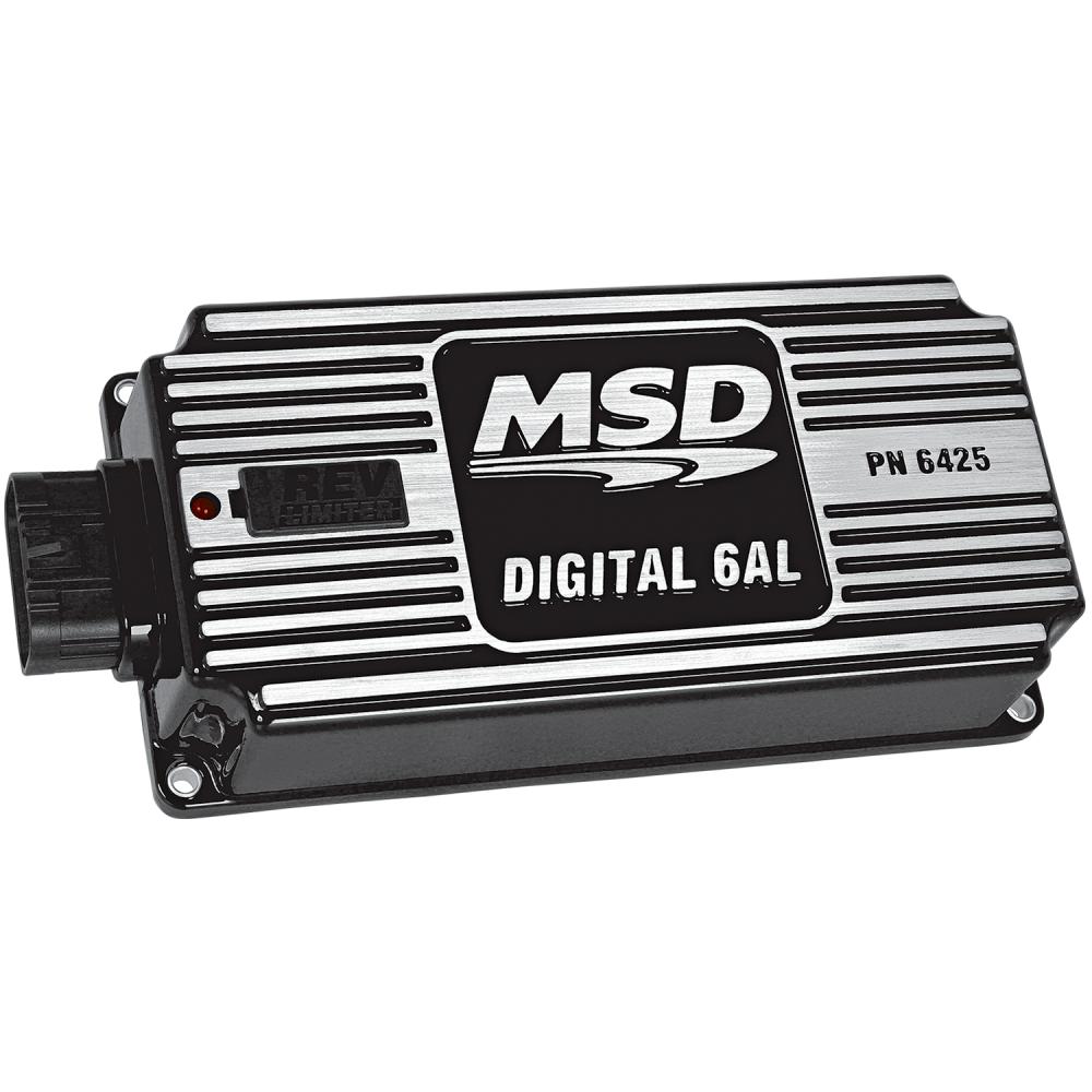 Msd 6al Digital Ignition Box W Wiring Diagram Internal Performance Built In Rev Limiter Black