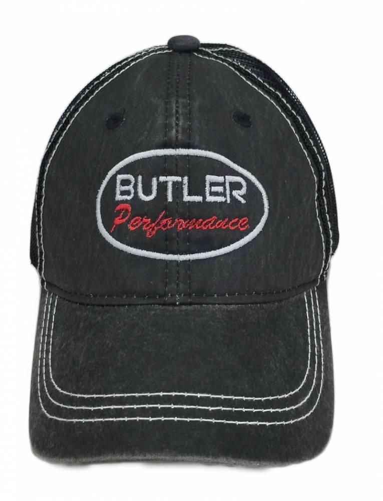 Butler Performance Hat Black on Black   Distressed cd5707df0d2f