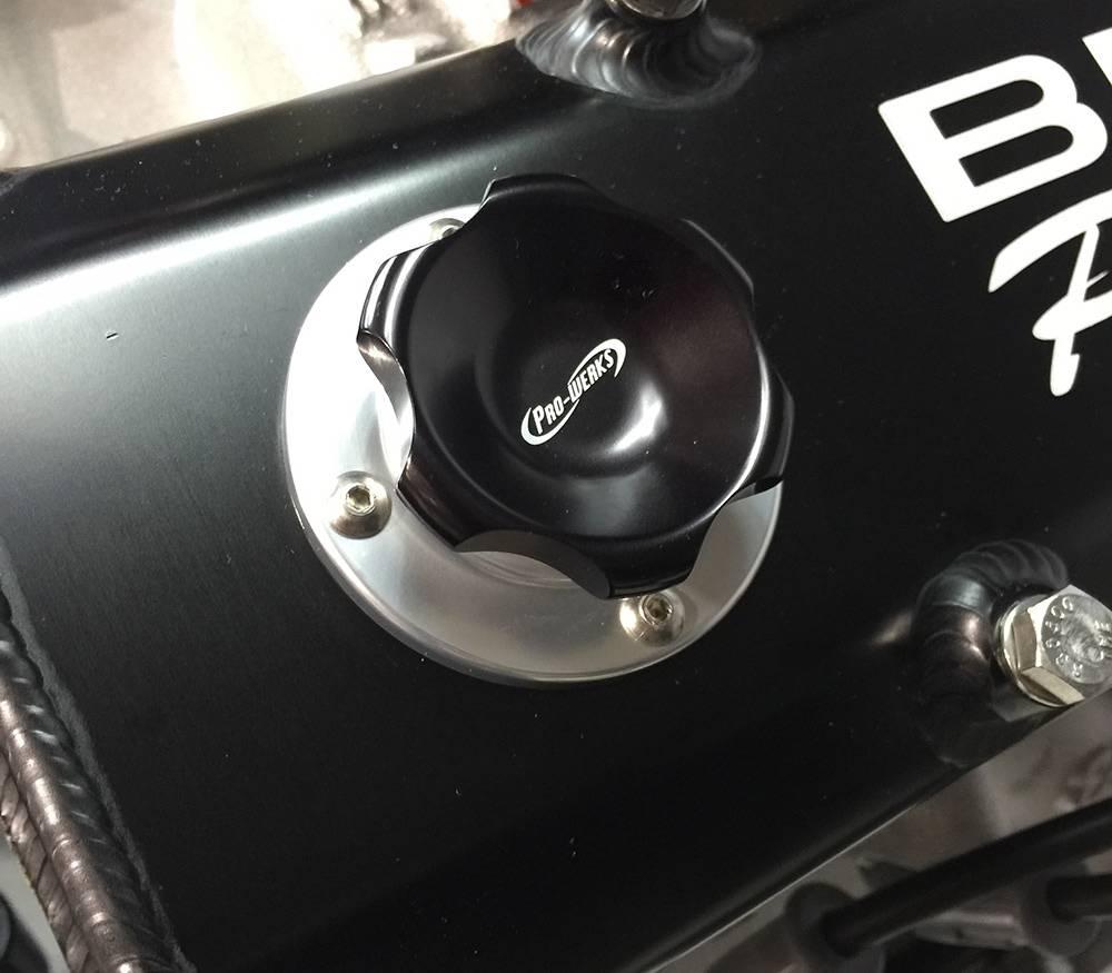 Short Bolt-On Billet Aluminum Engine Oil Filler Caps