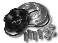 Pro-Werks - Pro-Werks 1-5/8 in. Black Fill Cap with Aluminum Bolt-on Bung, Black PWE-C73-735-B