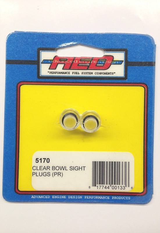 Holley - Holley Clear Bowl Sight Plugs for Holley Carbs AED-5170