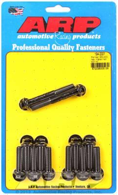 ARP - ARP Pontiac Hex Head Intake Manifold Bolt Kit- Black Oxide ARP-194-2001