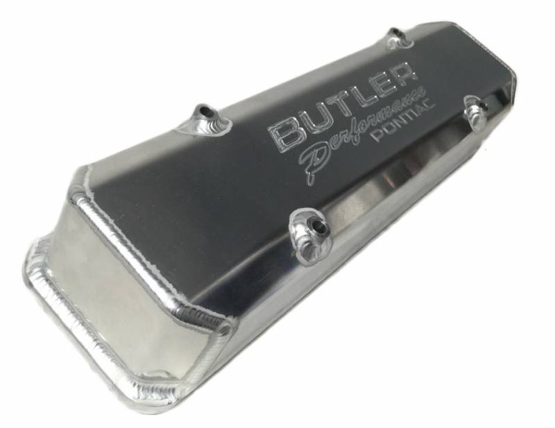 "Butler Performance - Butler Performance 3 3/4"" Tall ""Butler Performance Pontiac"" Fab Aluminum Valve Covers-With Bolts (Set) BFA-TVC2"