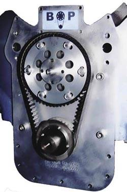 BOP - BOP Belt Drive, W/Motor Plate, STD Deck, for Aluminum Oil Pan BOP-BDS06-A