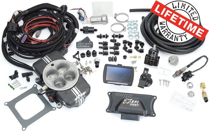 F.A.S.T. - FASTEZ-EFI 2.0® Self Tuning Engine Control System • Carb-to-EFI Master Kit w/upgraded Aeromotive Fuel System (In-Tank Pump), FAS-30401-KIT