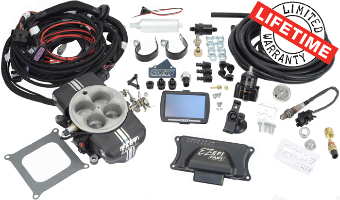 F.A.S.T. - FASTEZ-EFI 2.0® Self Tuning EFISystemw/CompleteInline Fuel System FAS-30402-KIT