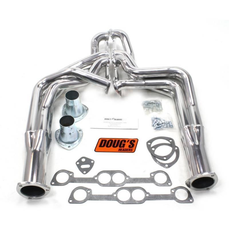 "Doug's Headers - Doug's Headers 1 7/8"" 4-Tube Full Length Round Port Headers Pontiac Firebird 326-455 67-69 Metallic Ceramic Coating DHE-D568"
