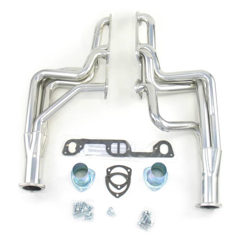 "Doug's Headers - Doug's Headers 1 3/4"" 4-Tube Full LengthD-PortHeaders Pontiac GTO 326-455 68-72 Metallic Ceramic Coating DHE-D590"