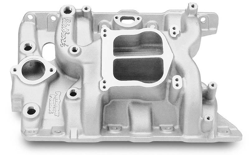 Edelbrock - Edelbrock Performer Intake Manifold, Satin, PONTIAC 326-455 V8 (NON-EGR) EDL-2156