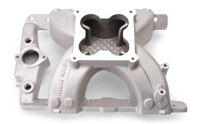 Edelbrock - Edelbrock Victor Series IntakeManifold, PONTIAC 326-455 V8, for 4500 Series carburetors EDL-2956