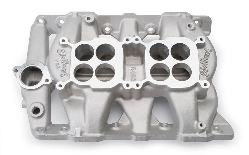 Edelbrock - Edelbrock Dual-Quad Pontiac Intake Manifold EDL-5450