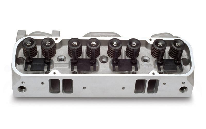 Edelbrock - Edelbrock Round Port Pontiac 72cc CylinderHeads,Hyd. Flat Tappet(Pair)EDL-60599-2