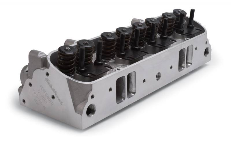 Edelbrock - Edelbrock 65cc Aluminum D-port Pontiac Cylinder Heads, As Cast Chambers(Pair)EDL-61549-2
