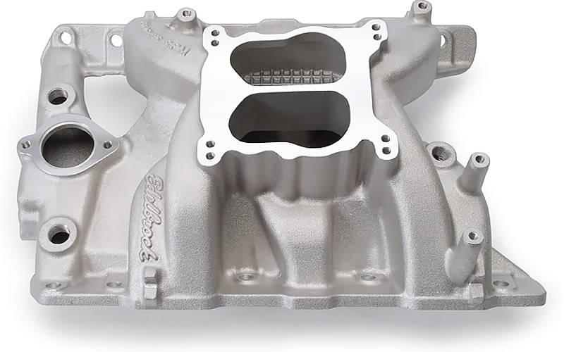 Edelbrock - Edelbrock Performer RPM Pontiac Intake Manifold, Satin EDL-7156