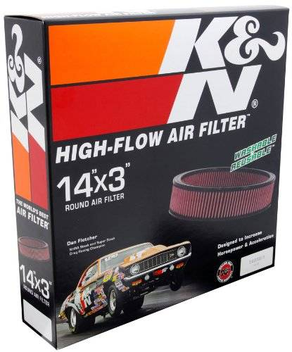 "K & N - K&N 14""x 3"" Cleanable Air Filter Element K&N-E-1650"