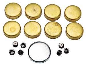 Melling - Melling Pontiac Brass Freeze Plug Kit - Block MEL-MPE115BR