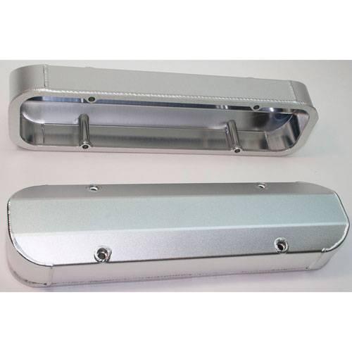 PRW - PRW Pontiac Aluminum Valve Covers- Satin Silver Anodized / 3 ¼ Tall (Set) PRW-4045510
