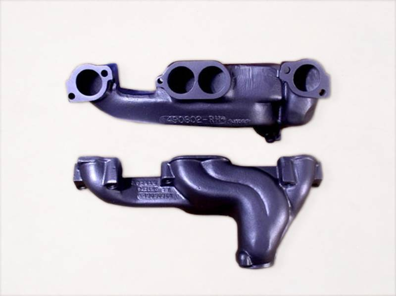 "Ram Air Restorations - RAR Pontiac Oversized 2.5"" Outlet Round Port Manifolds, 64-79 GM A-Body (GTO), 70-81 Firebird, 69-81 Grand Prix / Mid-late '70's (Pair) RAR-RM-4-OS"