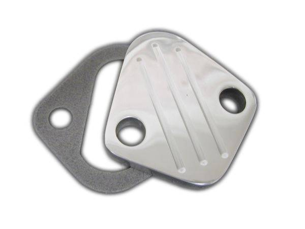 RPC - RPC Polished Billet Aluminum Fuel Pump Block Off Plate RPC-S6258