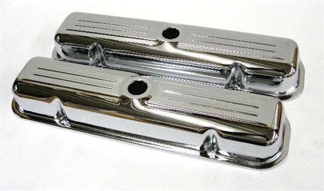 """RPC - RPC Pontiac Short Chrome Valve Covers, Plain- No Logo, 2 3/4"""" Tall (Set) RPC-S9461"""