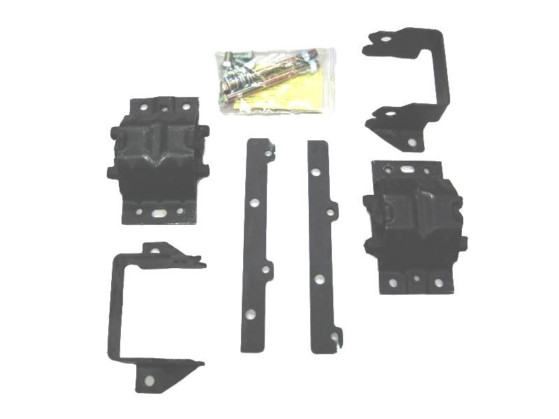 Warpath Restoration - Warpath Restoration Pontiac Engine Adapter Kit w/ Rubber Frame Mount / Engine Mount -Adapter, Set WRP-MM2