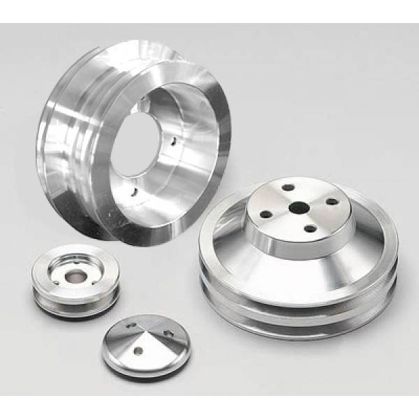 March Performance - March Triple Groove Factory Replacement V-Belt Pulley Set for Pontiac 326-455c.i MAR-13050
