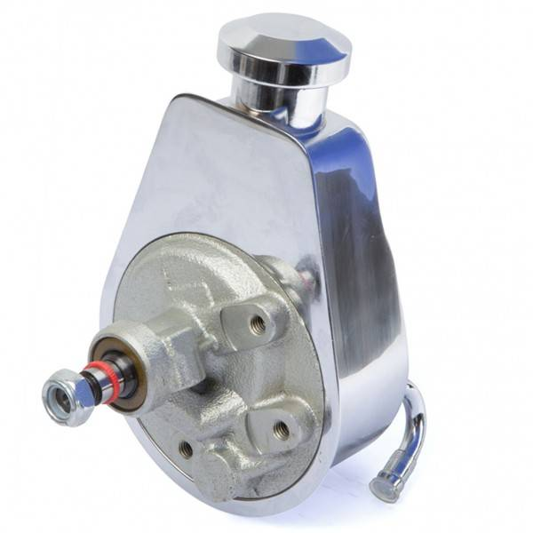 March Performance - March Chrome Power Steering Pump-Keyed Saginaw Type MAR-P304