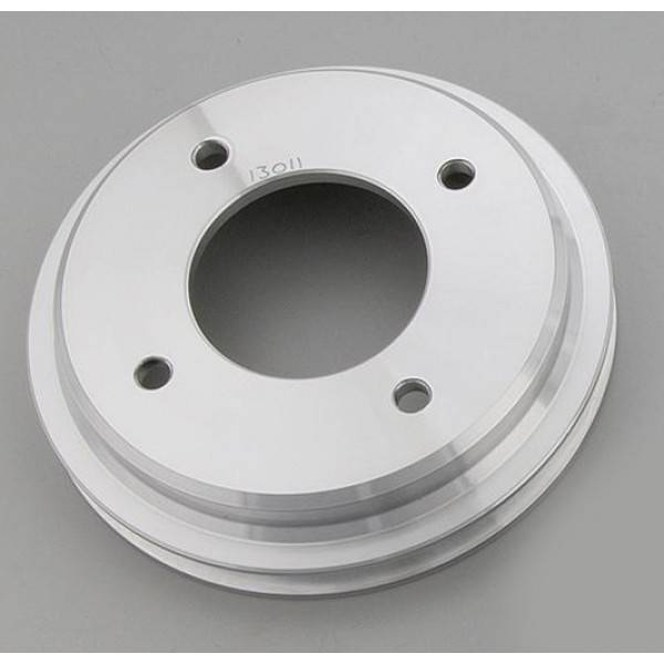 March Performance - March Pontiac 71-79 15% Underdrive 1-Groove Polished Aluminum Crank Pulley MAR-13011