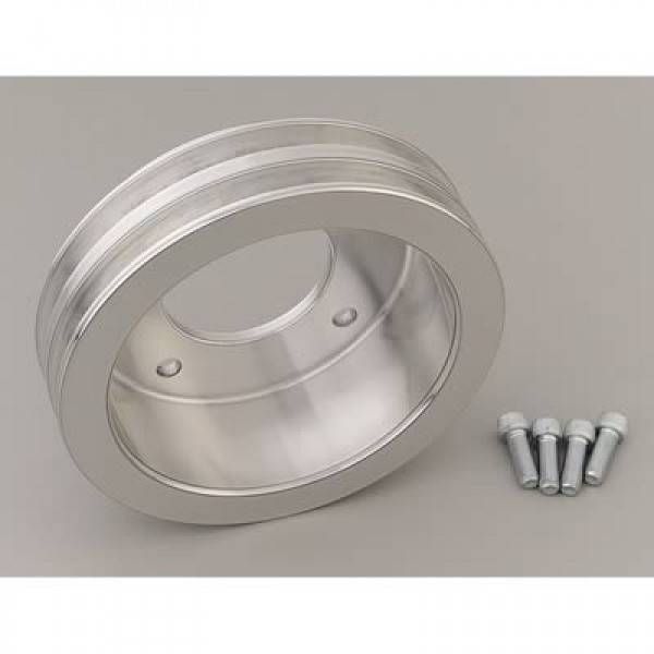 March Performance - March 69-77 2-Groove Polished Aluminum Crank Pulley-15% Underdrive MAR-13031