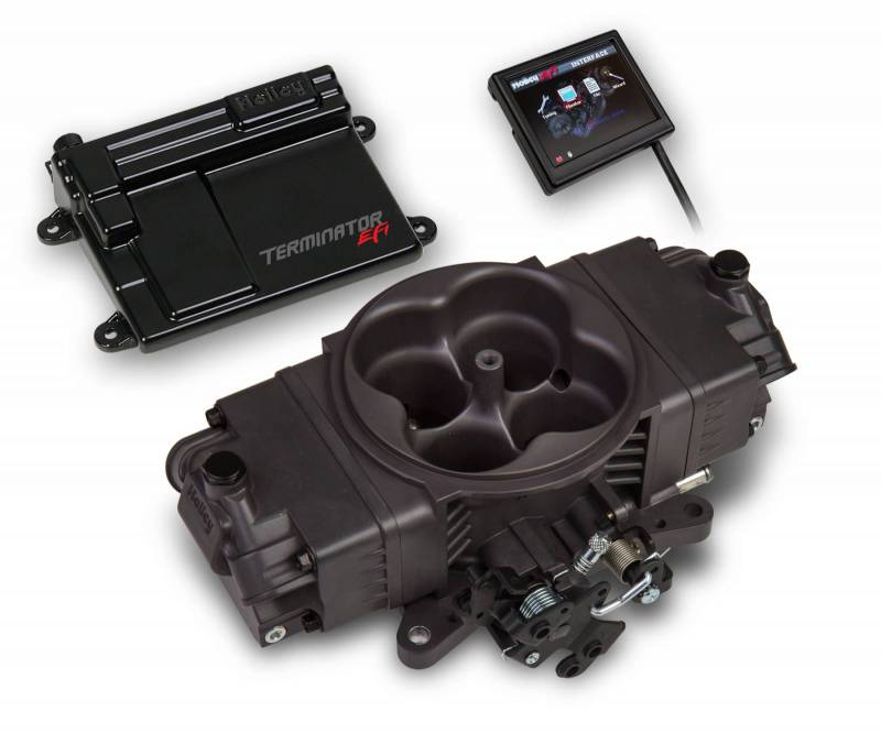 Holley - Holley Terminator Stealth EFI Kit, Hard Core Gray HLY-550-441