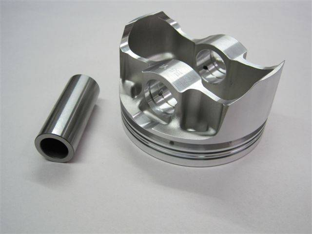 "Ross Racing Pistons - Ross Racing/Butler Flat Top Forged Pistons, 4.250"" Str., 4.155"" Bore w/Pins ROS-BU-65532-8"