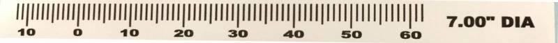 Dayco - Butler Pontiac 7'' Timing Tape 0-60 deg. marks, BPI-TT7