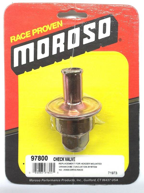 Moroso - Moroso Check Valve, replacement for Header Mounted Crankcase Evac System  MOR-97800