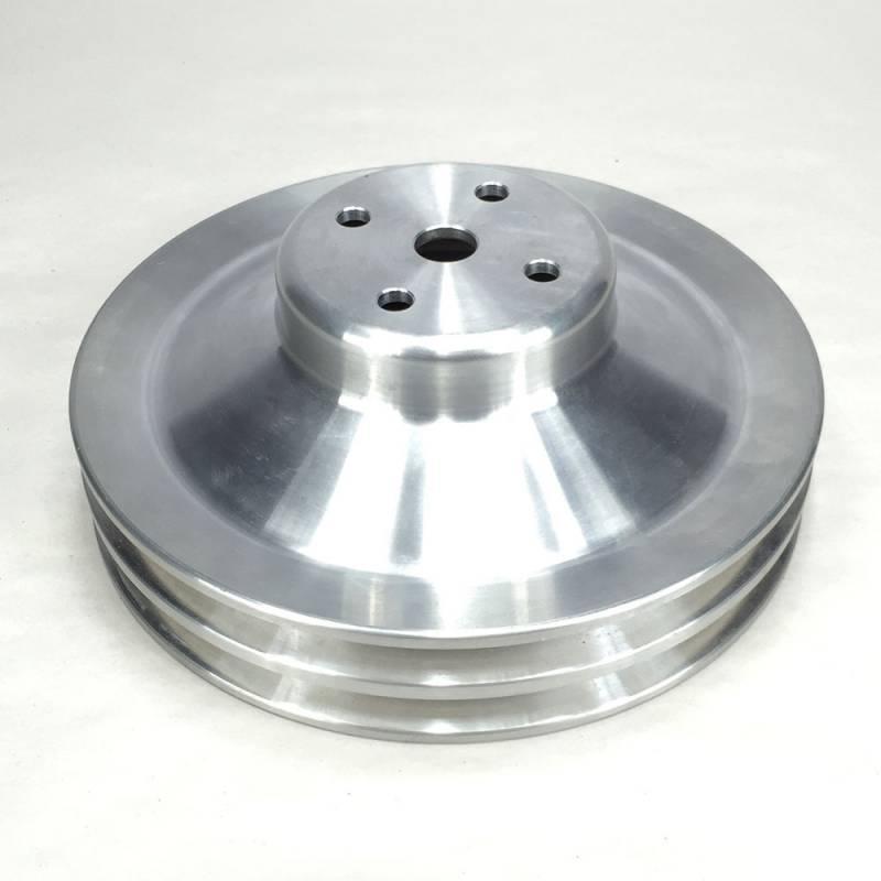 "Ram Air Restorations - RAR Pontiac Pontiac 2 Groove Water Pump Pulley, 1969 1/2-1970 w/4.50"" water pump, 8"", Aluminum Finish, **NON A/C Applications** RAR-PLW2"