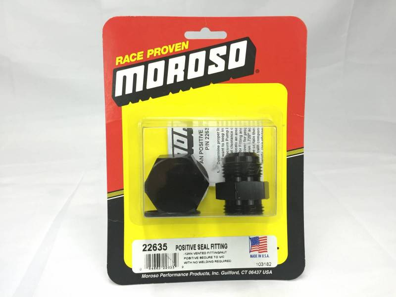 Moroso - Moroso -12 AN Positive Seal Fitting for BPI-Evac-GZ MOR-22635