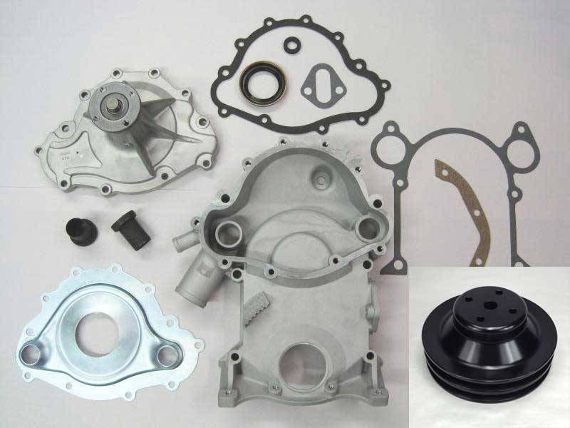 Butler Performance - Butler Performance 8-Bolt to 11-Bolt Timing Cover Conversion Kit w/High Flow Water Pump BPI-TC-11B-KIT-P