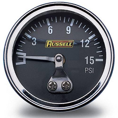 Russell - Russell Fuel Pressure Gauge, 0-15 psi RUS-650330