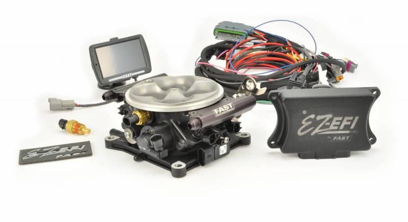 F.A.S.T. - FAST EZ-EFI Fuel Injection System Base Kit (EZ-EFI 1.0), w/4150 Black Anodized TB, w/TouchscreenFAS-30226-06KIT (No Fuel System)