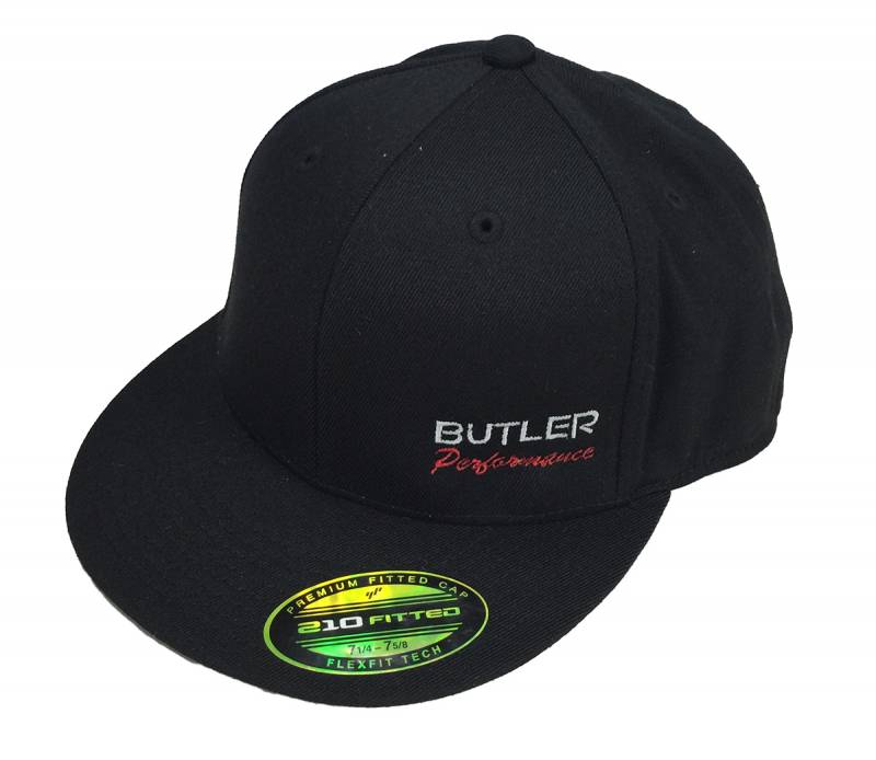 Butler Performance - Butler Performance Hat, Black, Flatbill (Fitted), BPI-HAT-6210-BK