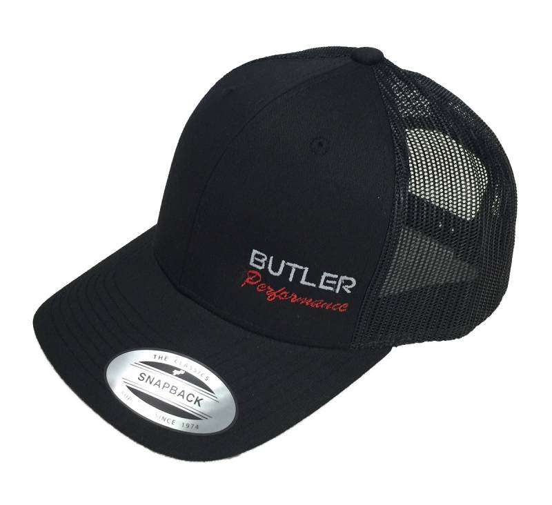 Butler Performance - Butler Performance Hat, Black, Trucker (Snapback), BPI-HAT-6606-BK