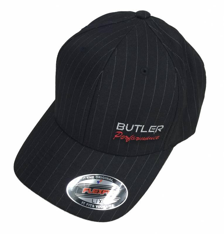 Butler Performance - Butler Performance Hat, Black, w/ Pinstripe (Flexfit), BPI-HAT-6195P-BK