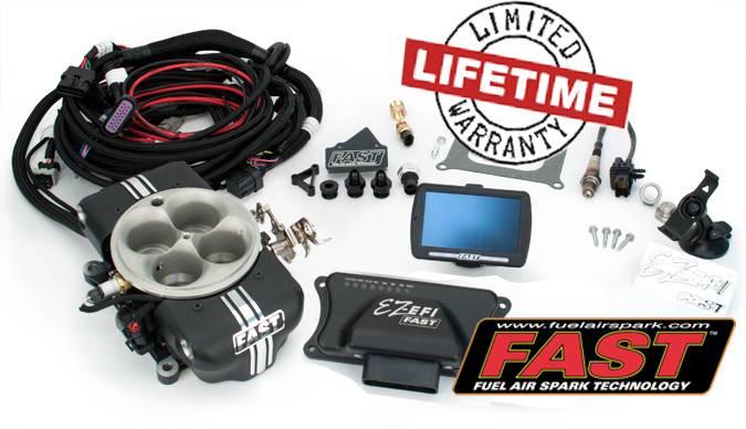 F.A.S.T. - FASTEZ-EFI 2.0® Self Tuning EFI Base Kit, FAS-30400-KIT  (No fuel System)