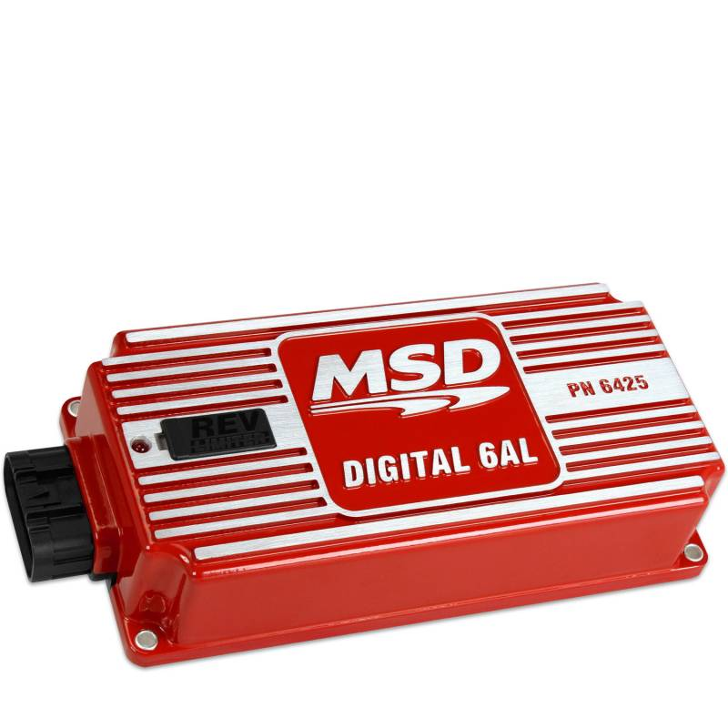 MSD Performance - MSD 6AL Digital Ignition Box w/ Built in Rev Limiter, Red MSD-6425