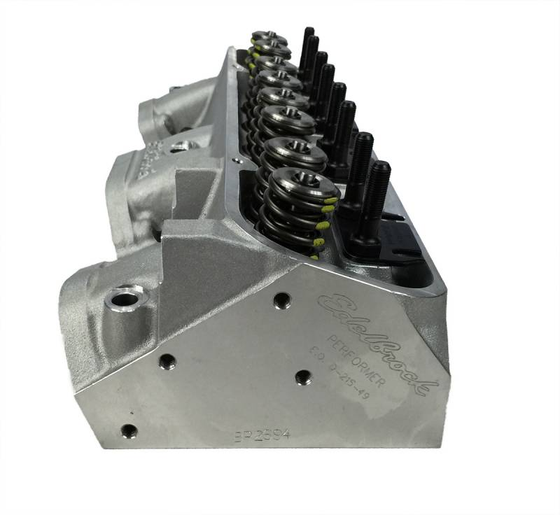 Butler Performance - Butler Performance Edelbrock Round Port Custom Aluminum Pontiac 72cc 300+CFM Cylinder Heads,(Pair)BPI-72cc-EDL-RdPort-300