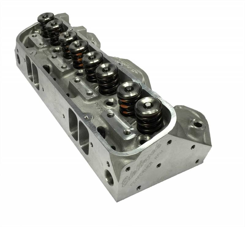 Butler Performance - Butler Performance Edelbrock Round Port/Wide Port Custom CNC Machined Pontiac 72cc 370+CFM Cylinder Heads, (Pair) BPI-72cc-EDL-RdPort-370CNC-WP